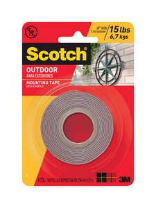 Scotch  1 in. W x 1 in. W x 60 in. L x 60 in. L Mounting Tape  Clear