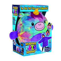 Huggle Hoodie  As Seen On TV  One Size Fits All  Long Sleeve  Youth  Rainbow  Unicorn  Hooded Sweats