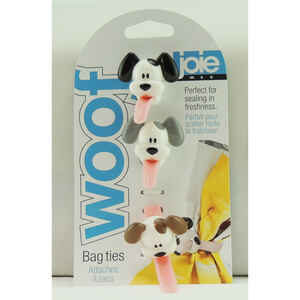 Joie  Woof  7 in. L Assorted  Silicone  Bag Ties  3 pk