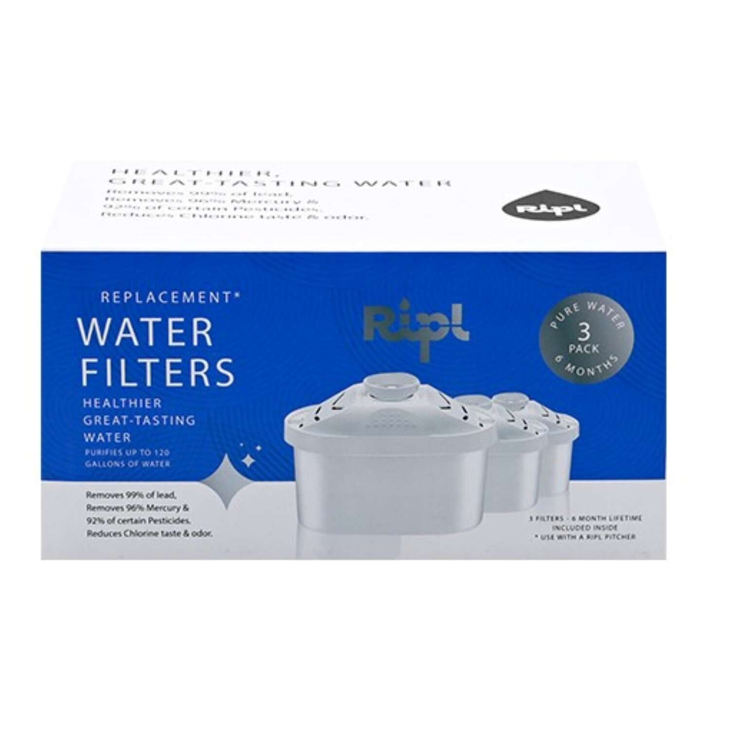 Ripl  Water Pitcher  Replacement Pitcher Filter