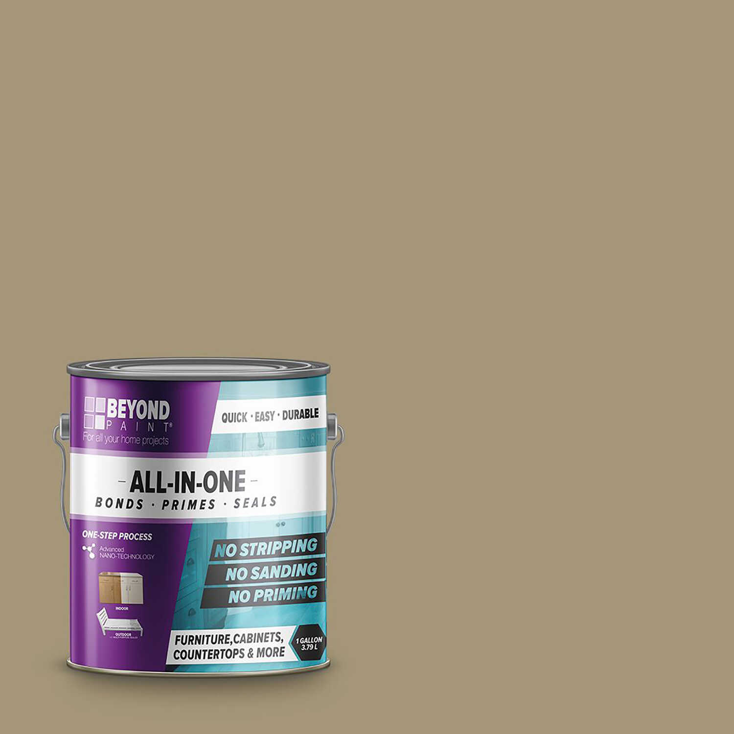 BEYOND PAINT  Matte  Linen  Water-Based  Acrylic  All-In-One Paint  1 gal.