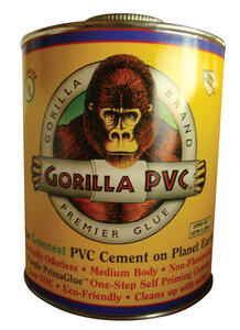 Gorilla PVC  PrimaGlue  Purple  Primer and Cement  For PVC 16 oz.
