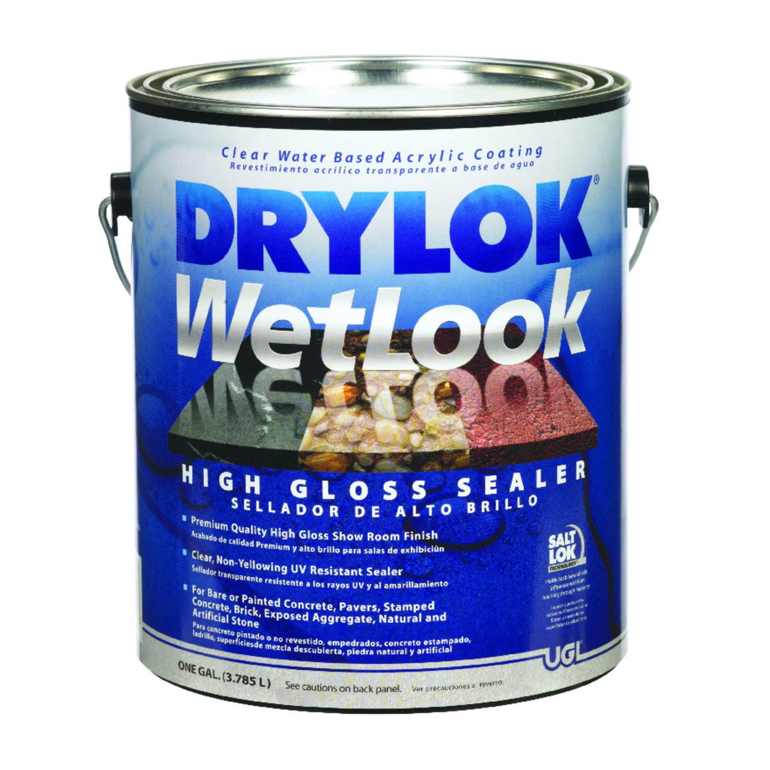 Drylok  WetLook  High-Gloss  Clear  Water-Based  Acrylic  Sealer  1 gal.