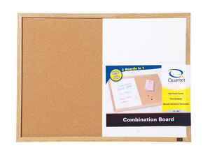 Quartet  17 in. H x 23 in. W Screw-Mounted  Bulletin Board/Dry Erase Board