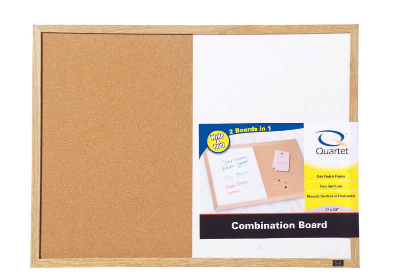 Quartet  17 in. H x 23 in. W x 17 in. H x 23 in. W Cork  Screw-Mounted  Bulletin Board/Dry Erase Boa