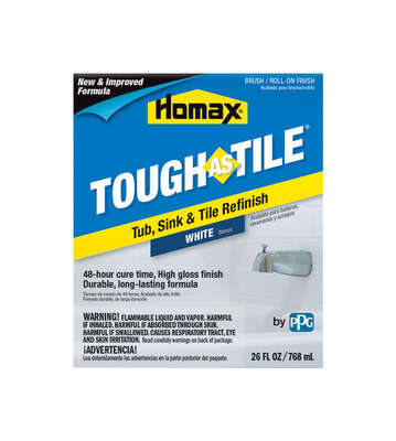 Homax  Tough As Tile  Gloss  White  Tub and Tile Refinishing Kit  Indoor  26 oz.
