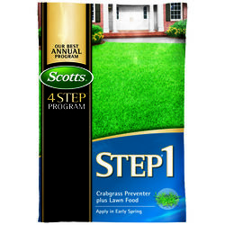 Scotts Step 1 Crabgrass Preventer 28-0-7 Lawn Fertilizer 15000 sq. ft. For All Grasses