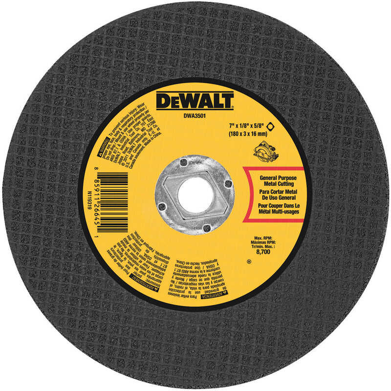 DeWalt  High Performance  7 in. 5/8 in. in.  Aluminum Oxide  Metal Cutting Saw Blade  1 pc.