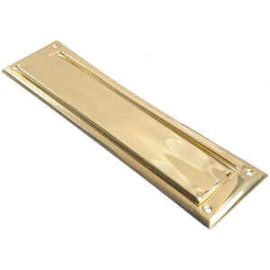 Ace  Bright Brass  Mail Slot  Mounting Hardware Included