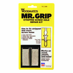 Woodmate  Mr. Grip  2 in. L Steel  Round Head Screw Hole Repair Kit  1 pk