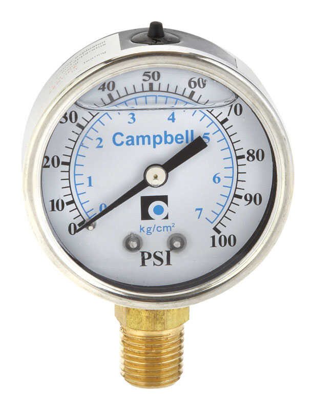 Campbell  Other  Pressure Gauge  1/4 in.  x 3 in. L