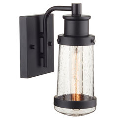Globe Electric Vintage 1-Light Matte Black Bennett Wall Sconce