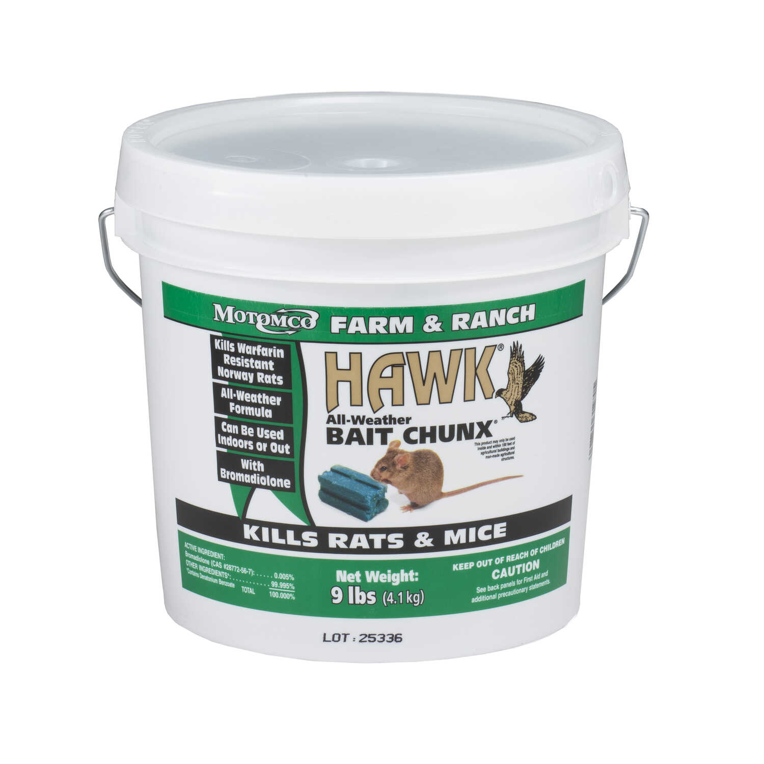 Motomco  Hawk  For Mice and Rats Bait  9