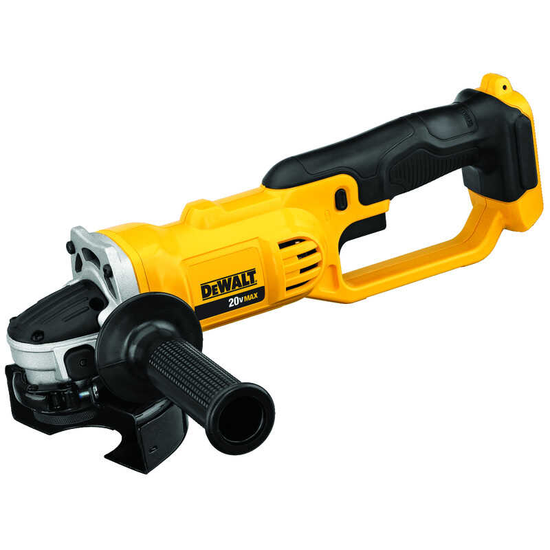 DeWalt  Cordless  20 volt 4-1/2 in. Medium Angle Grinder  Bare Tool  Trigger  8000 rpm
