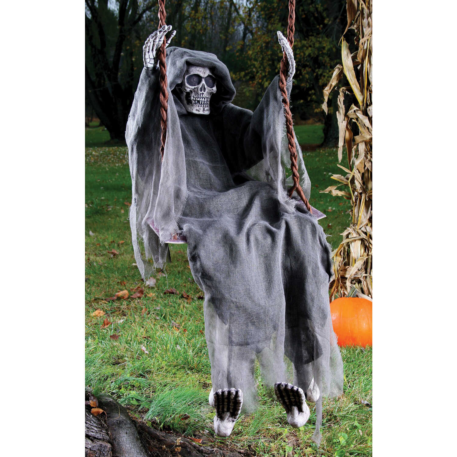 Fun World  Swinging Reaper  Halloween Decoration  18 in. H x 6 in. W x 60 in. L 1 pk