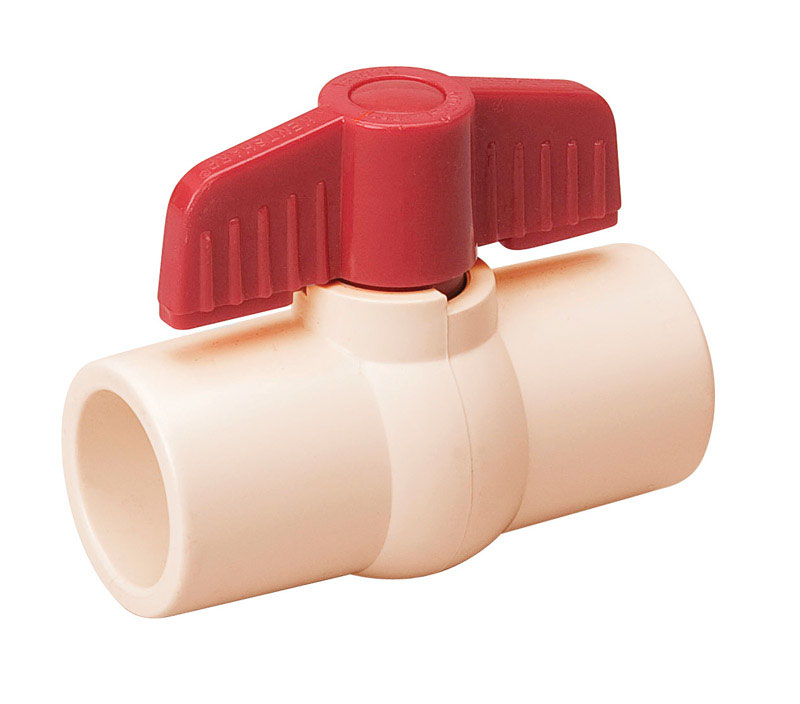 Mueller  Ball Valve  1/2 in. Dia. x Solvent   x 1/2 in. Dia. Solvent  CPVC  Ball