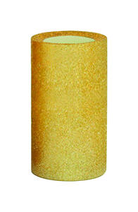 Inglow  Gold Glitter  No Scent Candle  6 in. H x 3 in. Dia.