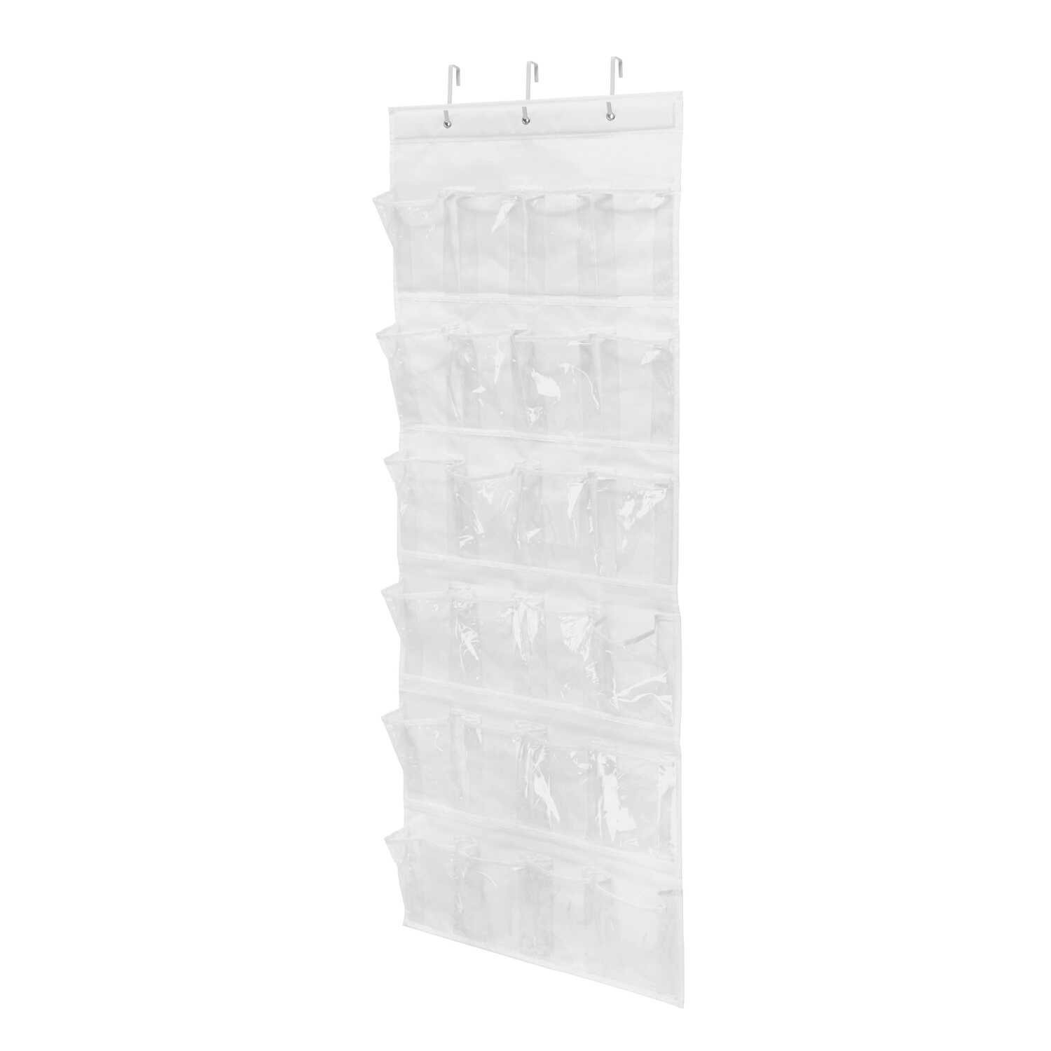 Honey Can Do  57 in. H x 21 in. W x 2 in. L Fabric  Over-the-Door Shoe Organizer