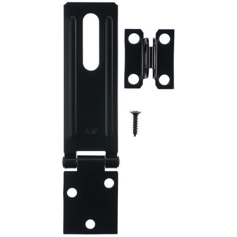 Ace  Black  Steel  4-1/2 in. L Fixed Staple Safety Hasp