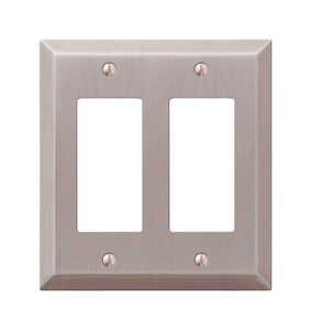 Amerelle  2 gang Stamped Steel  1 pk Wall Plate