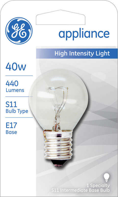 GE Lighting  40 watts A15  Incandescent Bulb  440 lumens Daylight  Landscape and Low Voltage  1  S11