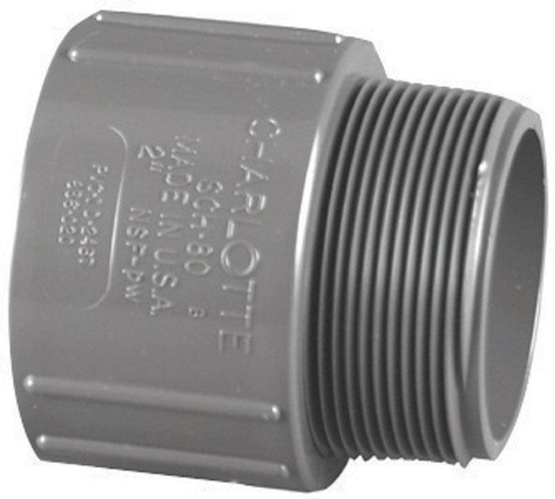 Charlotte Pipe  1-1/2 in. Slip   x 1-1/2 in. Dia. MPT  Pipe Adapter