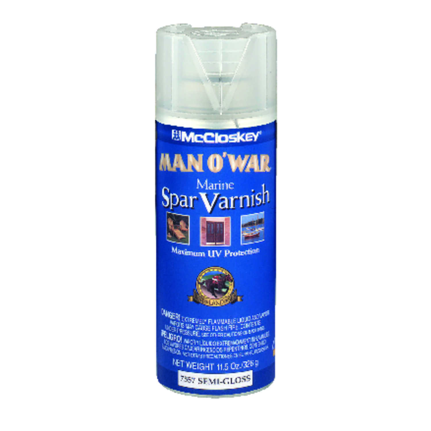 Man O' War McCloskey Semi-Gloss Clear Marine Spar Varnish