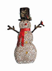 Celebrations  Snowman  LED Yard Art  Birch  1 each White