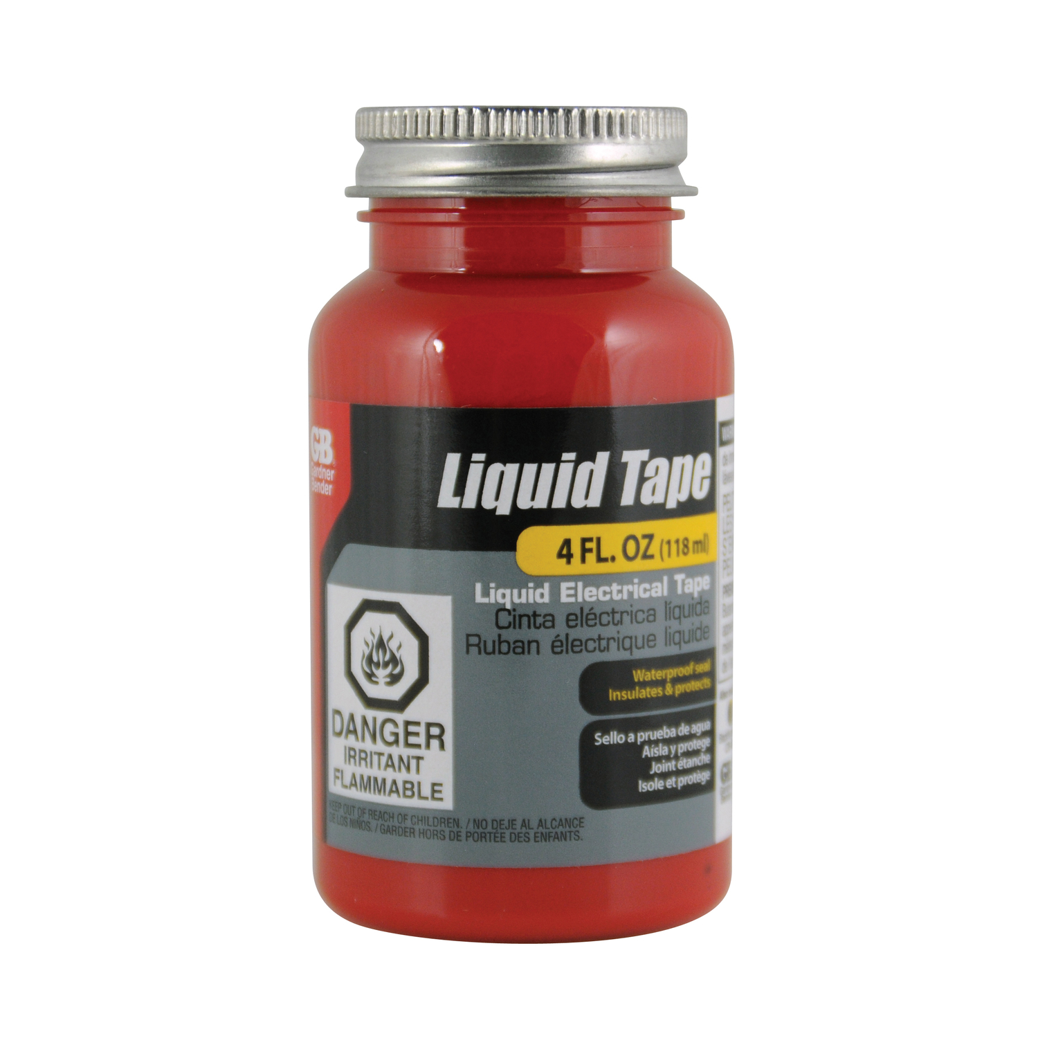 Gardner Bender  Liquid Tape  2 in. W x 2 in. L Red  Rubber  Liquid Electrical Tape
