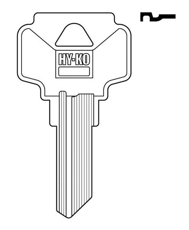 Hy-Ko  Automotive  Key Blank  EZ# DE1  Single sided For Fits Dexter