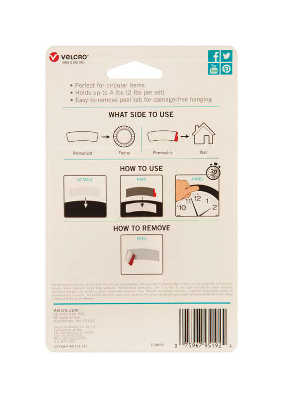 Velcro  HANGables  4 pk Removable Fasteners