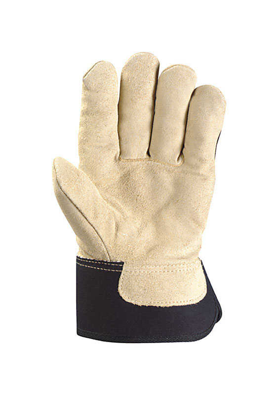 Wells Lamont  XL  Split Cowhide Leather  Black/Brown  Gloves