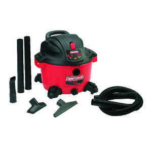 Craftsman  12 gal. Corded  5 hp 10 amps 120 volts Red  27 lb. 1 pc. Wet/Dry Vacuum