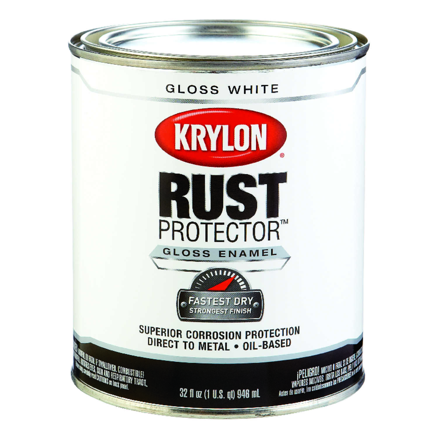 Krylon  Indoor and Outdoor  White  Rust Protector Paint  32 qt. Enamel  Gloss