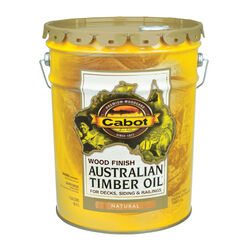 Cabot  Transparent  Netural  Oil-Based  Alkyd  Australian Timber Oil  5 gal.