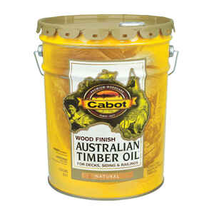 Cabot  Transparent  Netural  Oil-Based  Natural Oil/Waterborne Hybrid  Australian Timber Oil  5 gal.