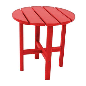 Ivy Terrace  Red  Classic  Round  End Table  Plastic