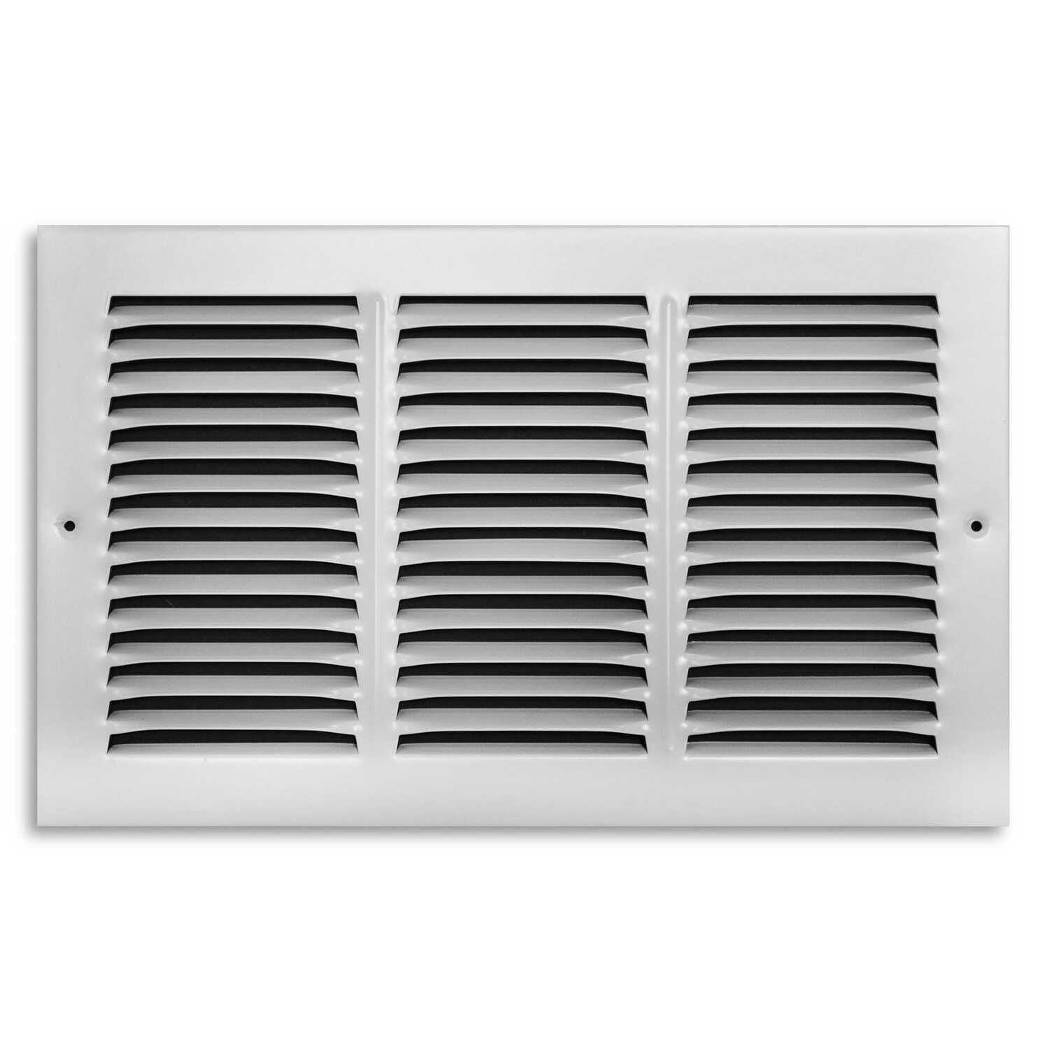 Tru Aire  1/4 in. D x 8 in. H 1-Way  Powder Coat  White  Steel  Return Air Grille