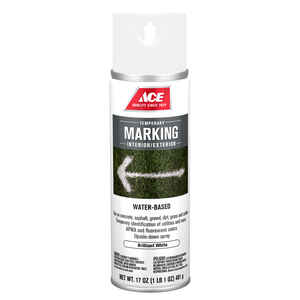 Ace  Water-Based  White  Field Marking Chalk  17 oz.