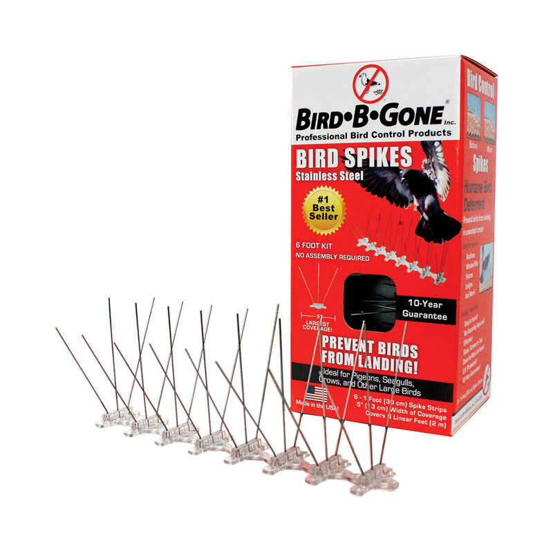 Bird-B-Gone Bird Repelling Spikes For Assorted Species - Ace