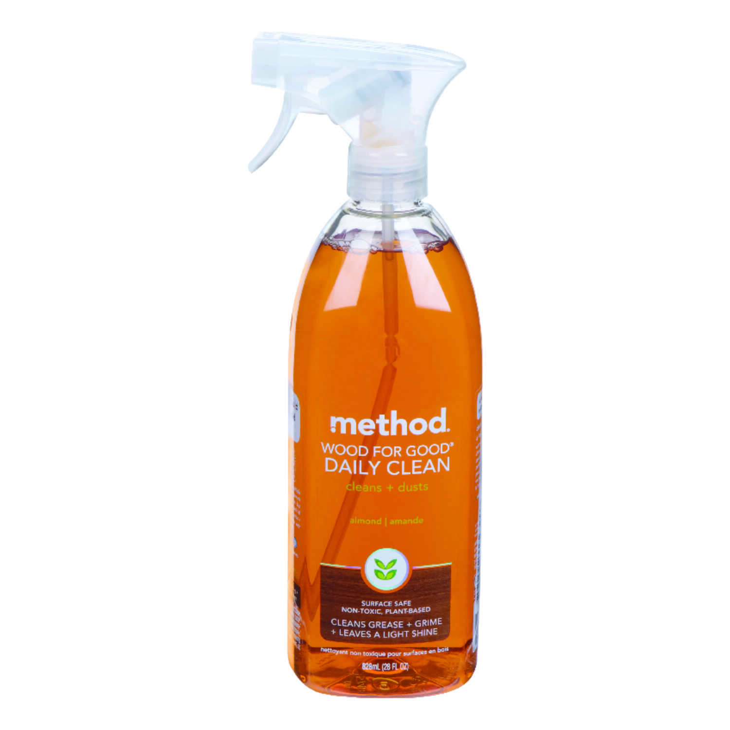 Method  Wood for Good Daily Wood Cleaner    28 oz. trigger spray  Almond