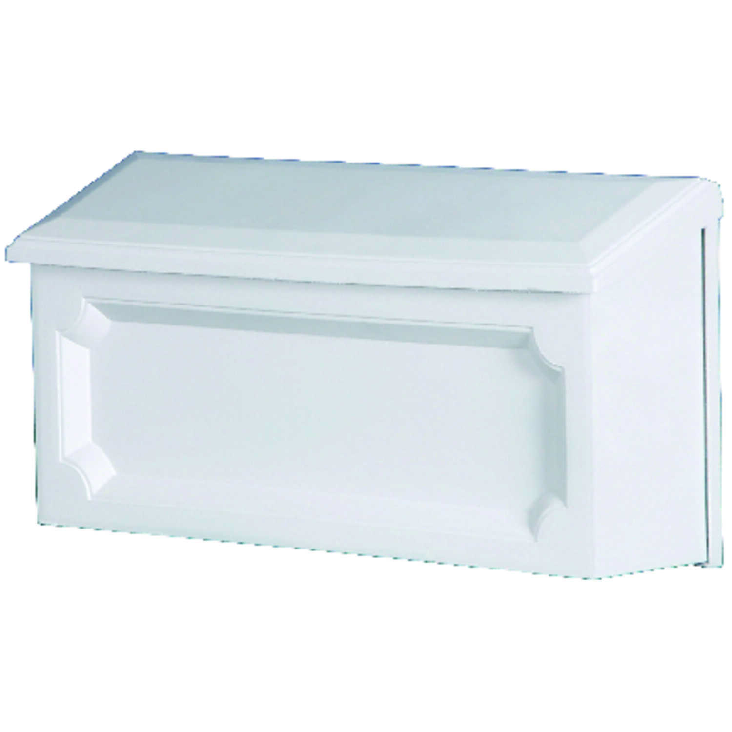 Gibraltar  Windsor  Wall-Mounted  7-1/4 in. H x 7-1/4 in. H x 15 in. W x 4 in. L Plastic  Mailbox  W