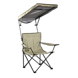 Quik Shade Basic Adjustable Taupe Canopy Folding Folding Chair