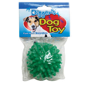 Diggers  Green  Spiked  Dog Toy  Large  Vinyl