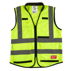 Milwaukee  Polyester  Performance Safety Vest  High Visibility Yellow  S/M