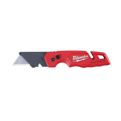 Milwaukee  Fastback  6-3/4 in. Press and Flip  Utility Knife  Red  1 pk
