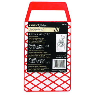 Linzer  Red  1 gal. Plastic  Bucket Grid