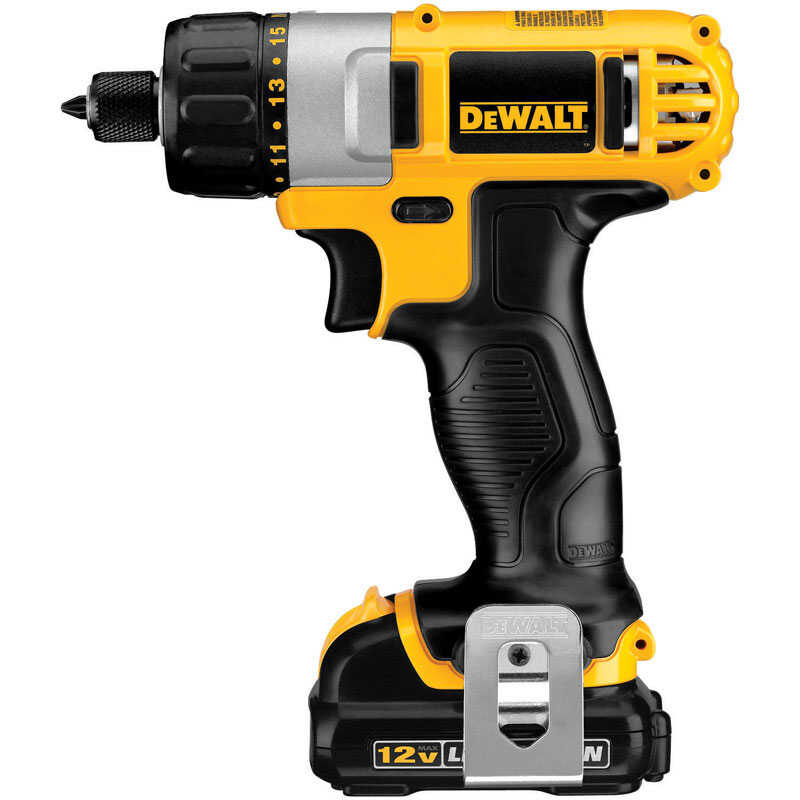 DeWalt  1/4 in. Hex  Cordless  Keyless  Battery Operated Screwdriver  Kit 12 volt 1050 rpm 1 pc.