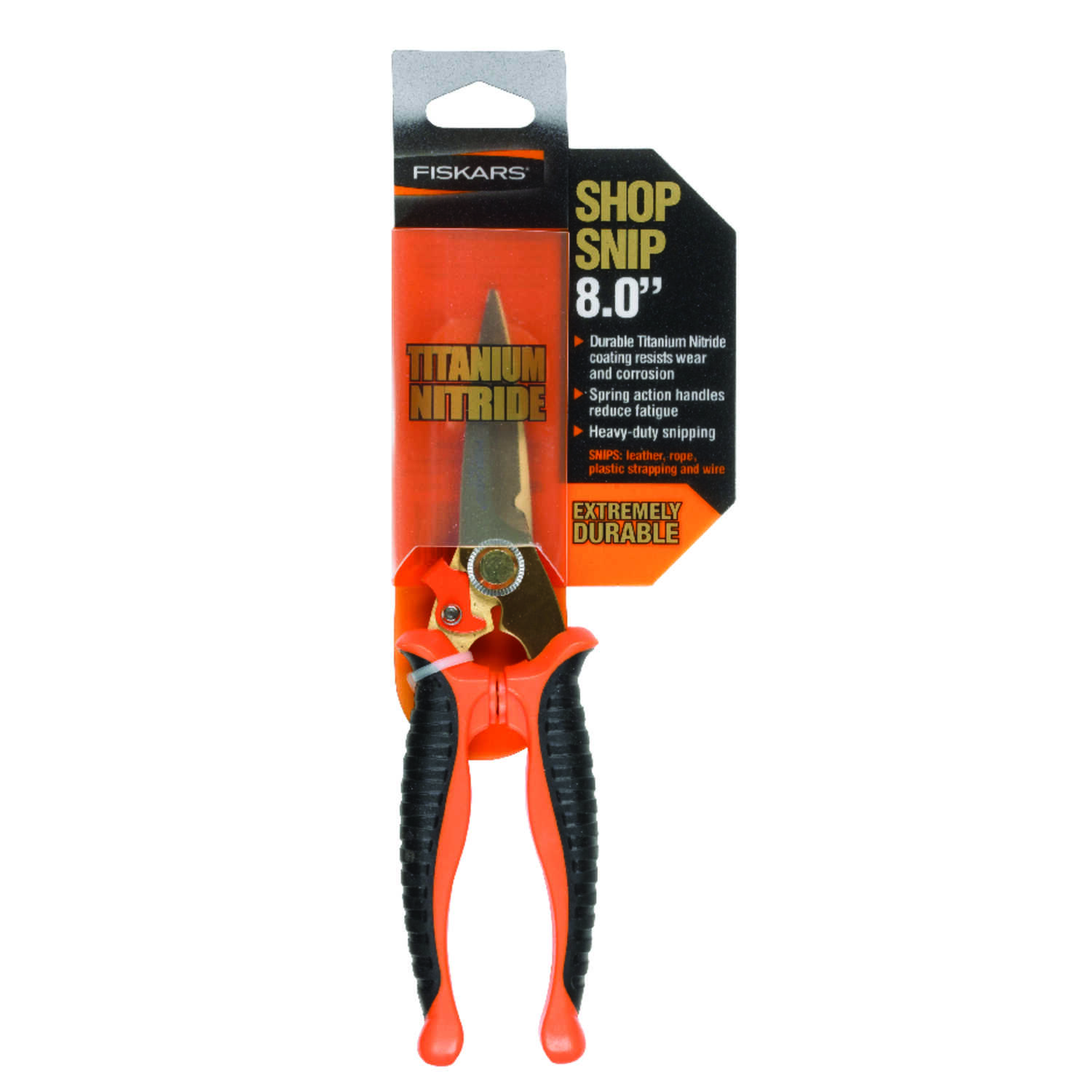 Fiskars  8 in. Forged Alloy Steel  Straight  Snips  1 pk