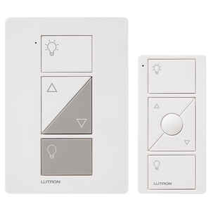 Lutron  Caseta  White  100 watts Plug-In  Dimmer Switch w/Remote Control  1 pk